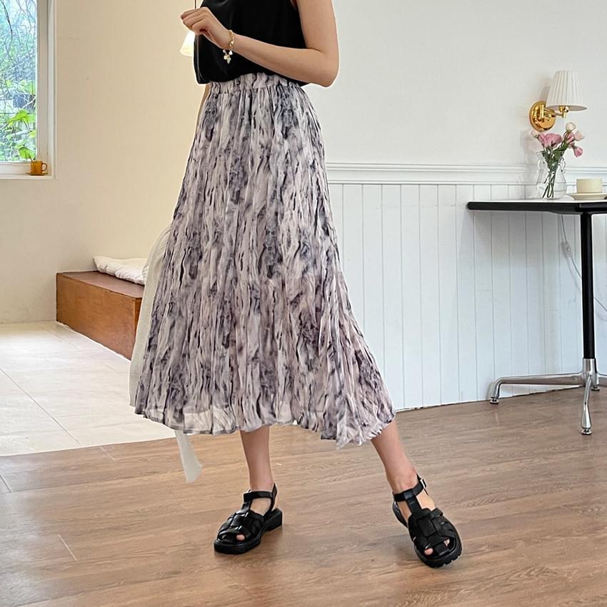 Deon tie-dye banding skirt