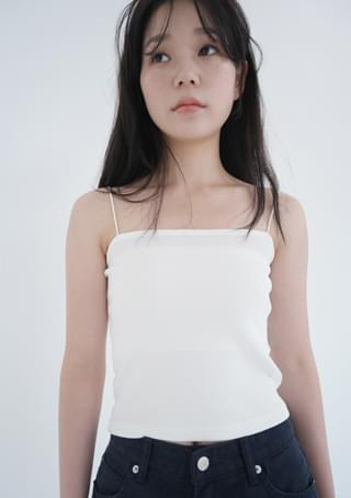 thin line strap golgi sleeveless (4colors)