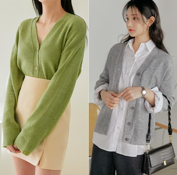 Relaxed Fit Knit Cardigan