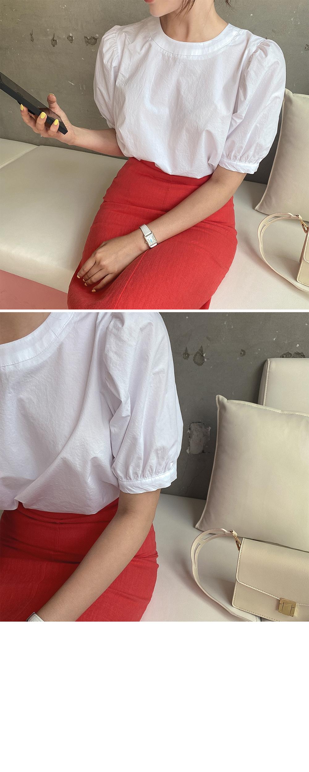 rosa puff blouse - 2color