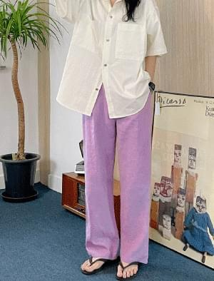 Lina wide linen pants