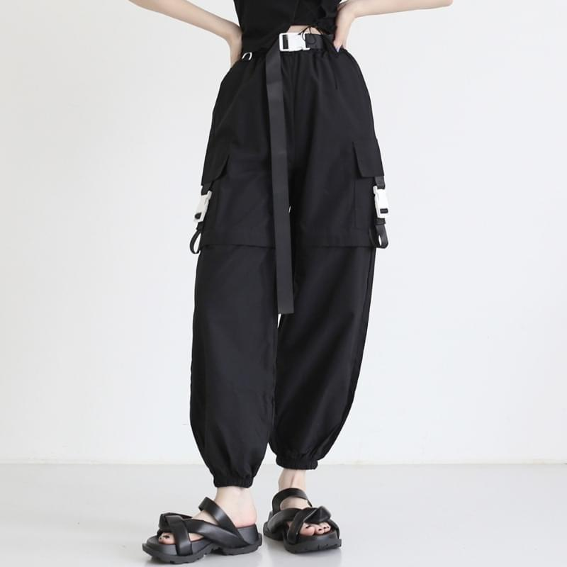 Maddy belted jogger trousers