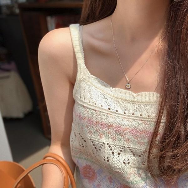 可愛針織細肩帶背心