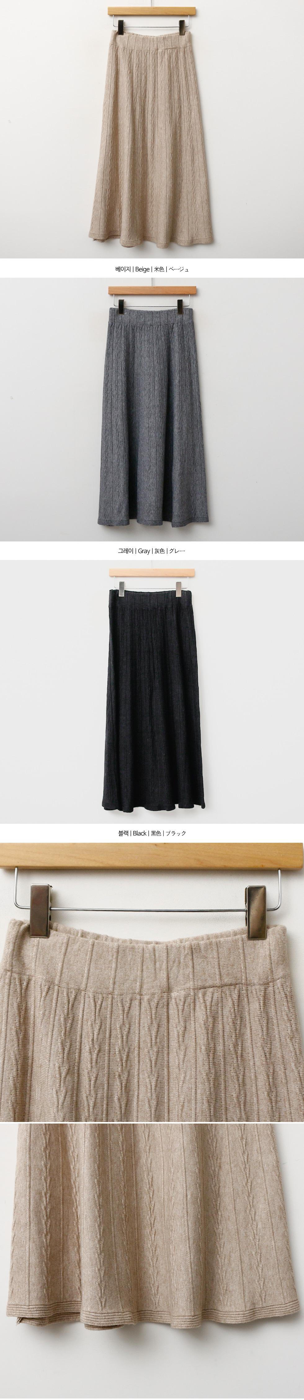 Wet Flare Skirt