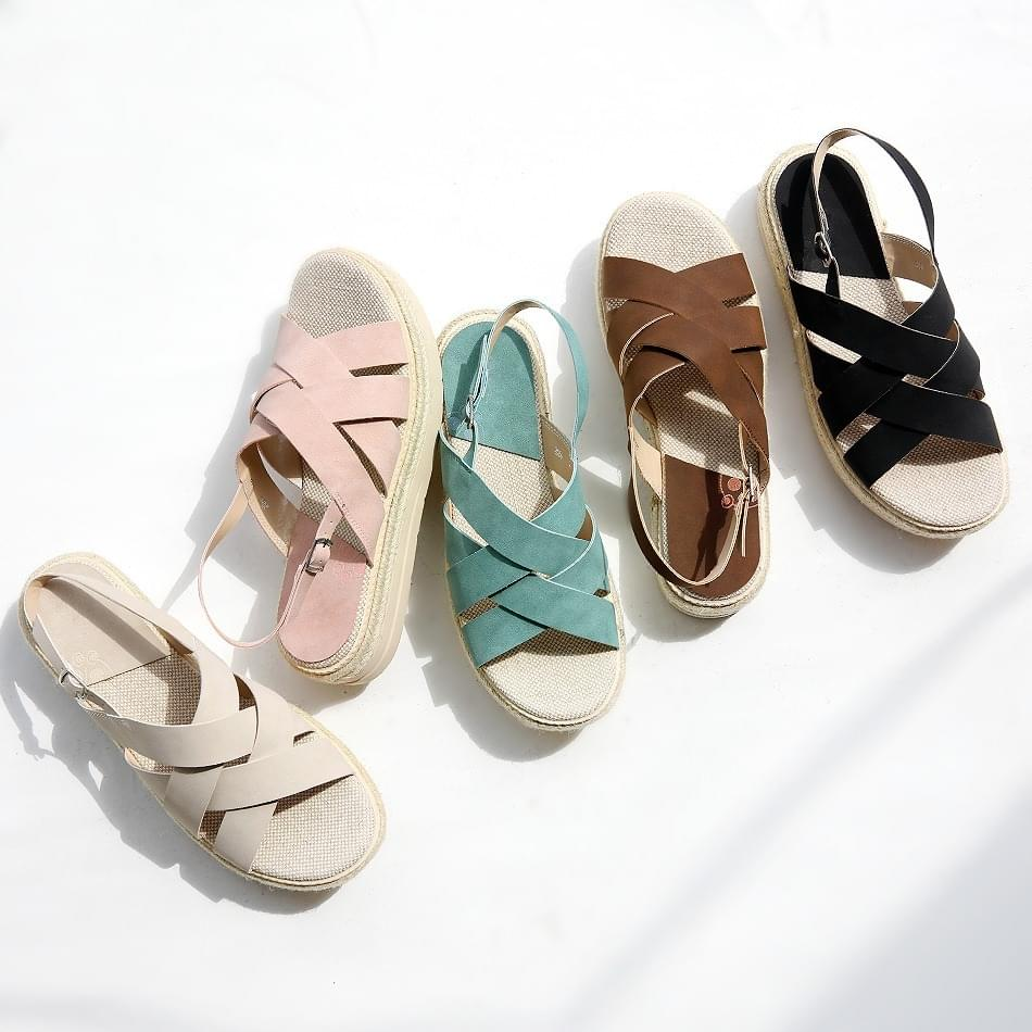 Summer Espardue Slingback Sandals 4cm