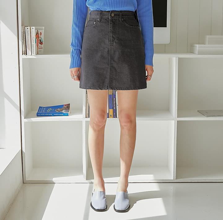 Basic A-Line Denim Skirt