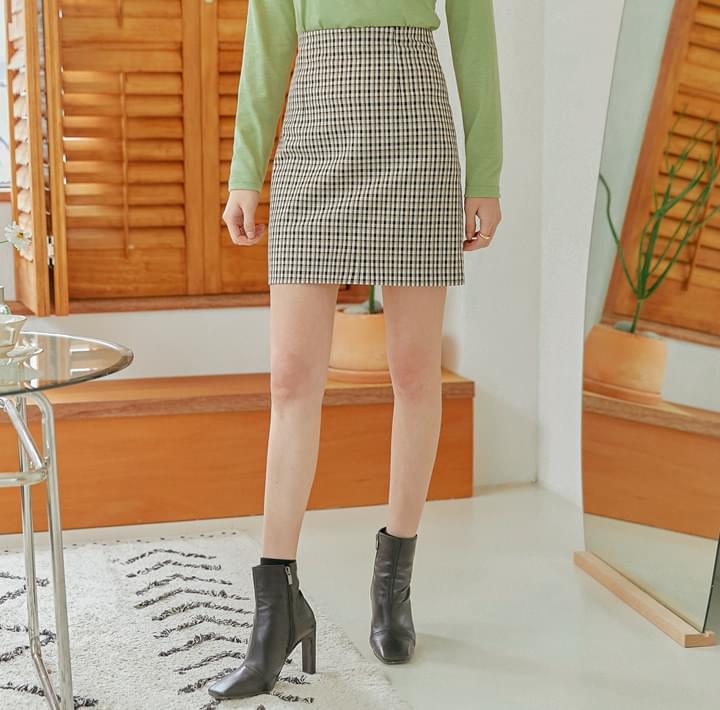 チェックタイトスカート-2TYPE