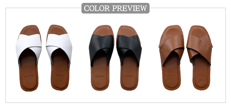 Exo leather slippers