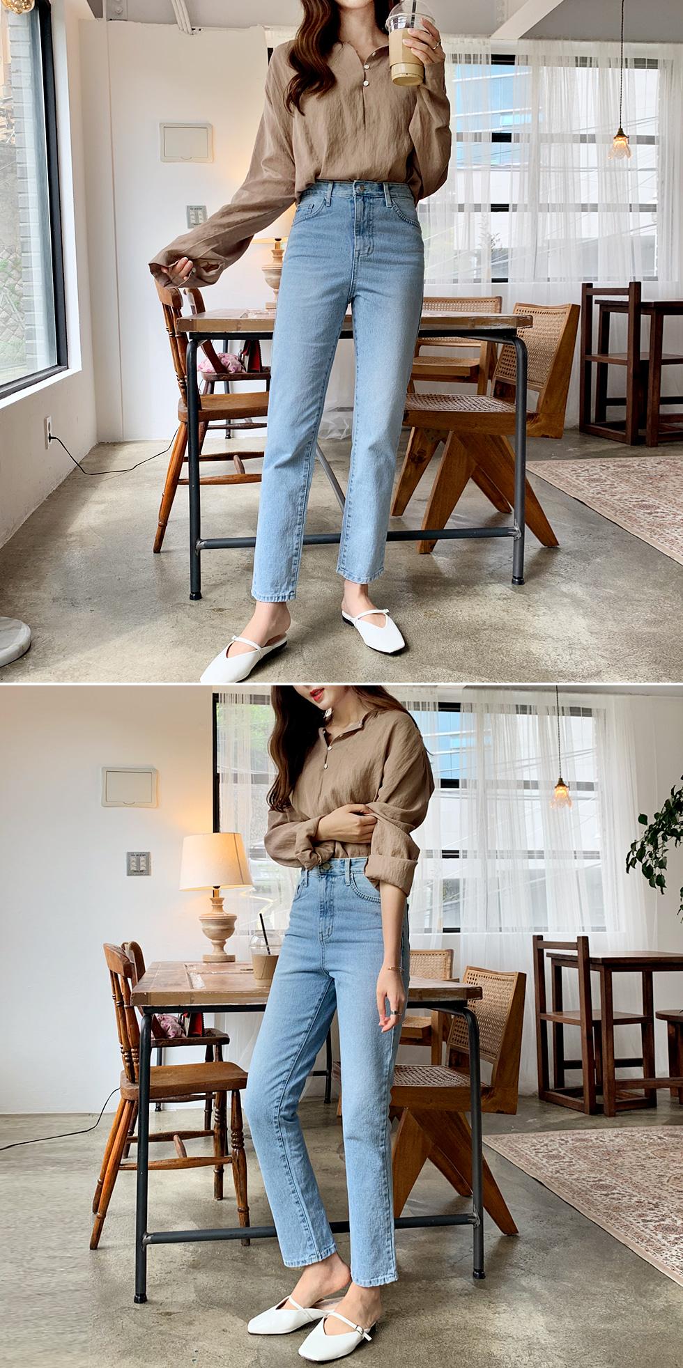 Mini button blouse