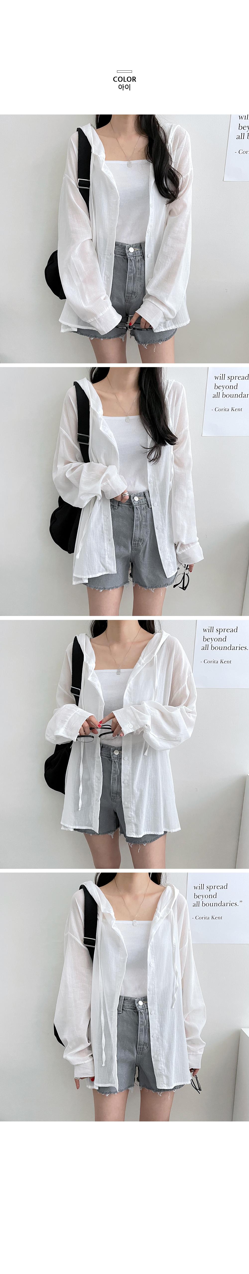 Camille see-through hooded shirt Shirt
