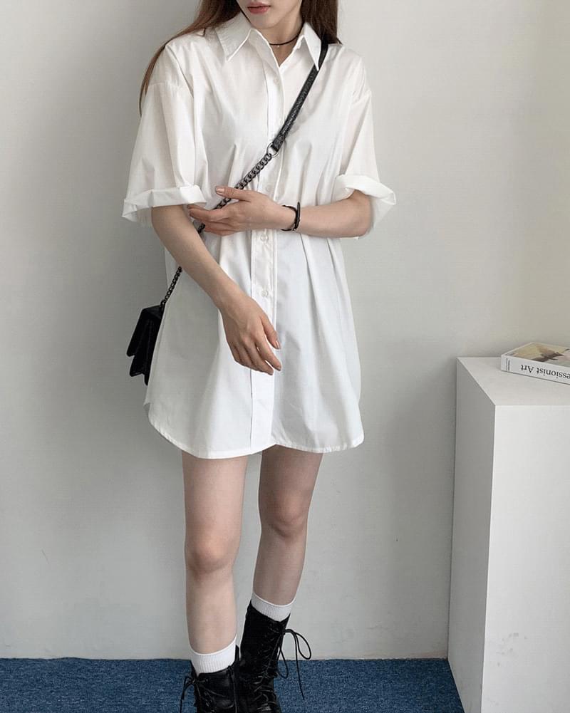 短袖襯衫洋裝