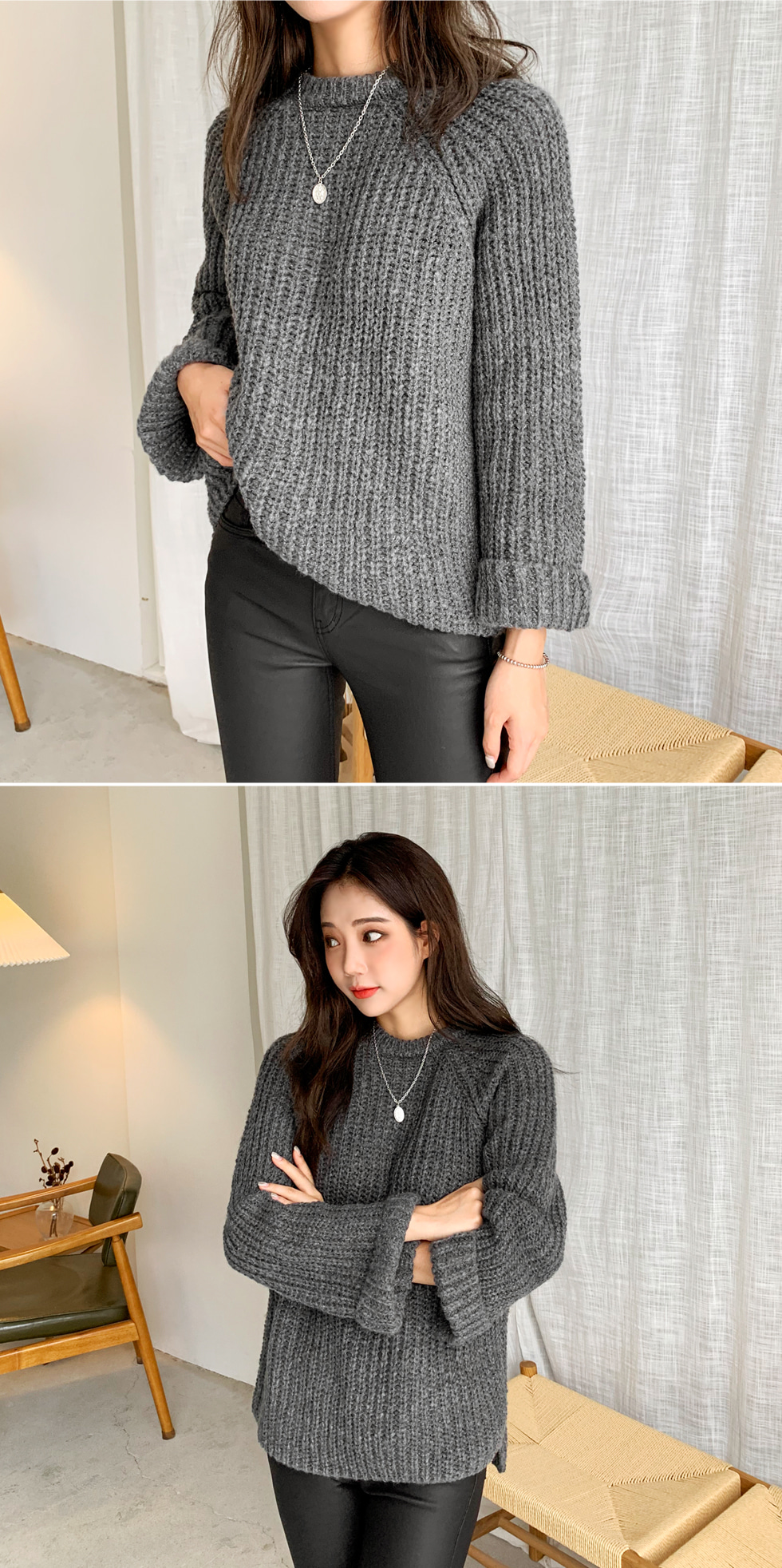 Sleeve Kabra Knitwear