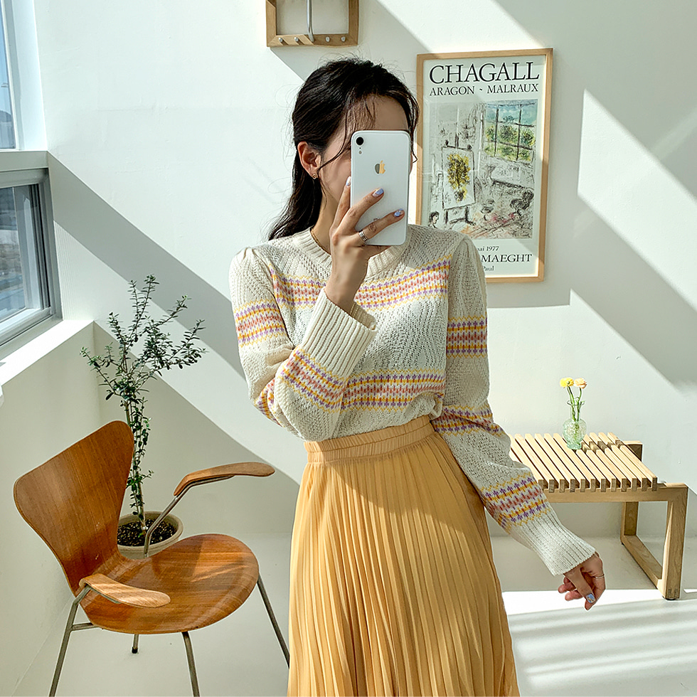 Jade Flower Knitwear