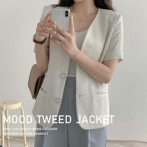 Ready Tweed Short Sleeve Jacket