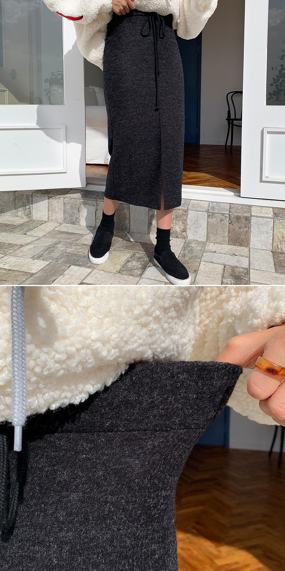 Laurent Pin Tuck Skirt