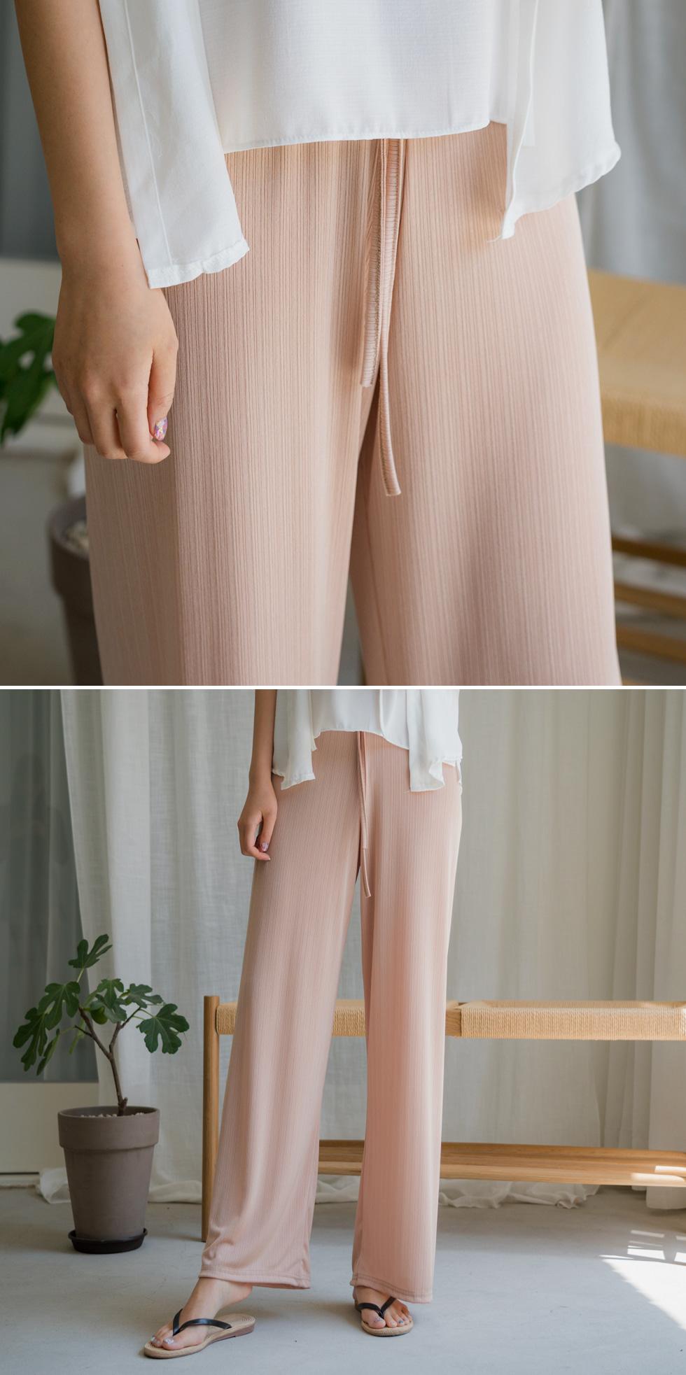 Shining Cool Ribbed Pants