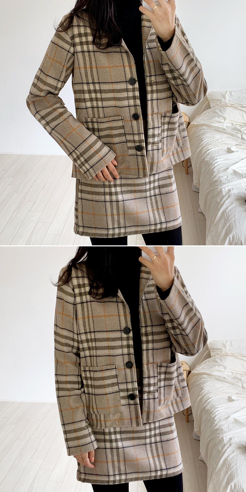 Ylang Wool Check Jacket