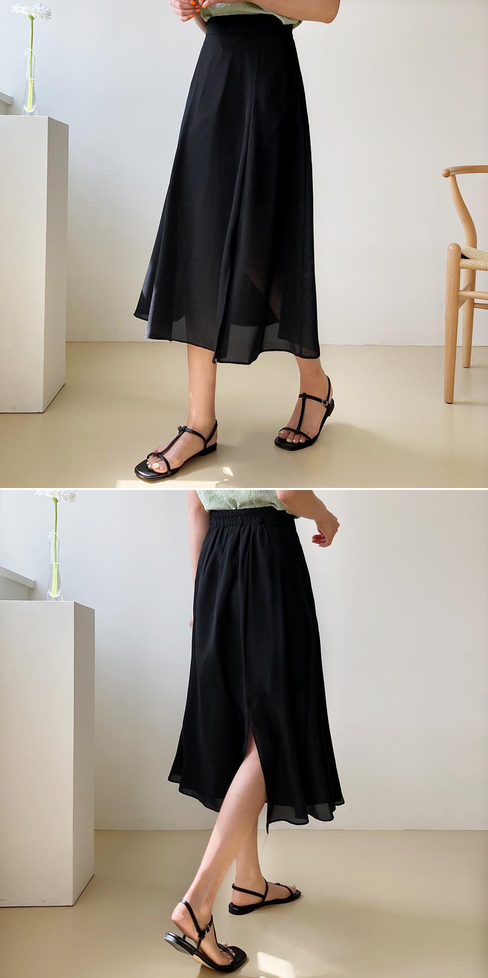 Tab Slit Skirt