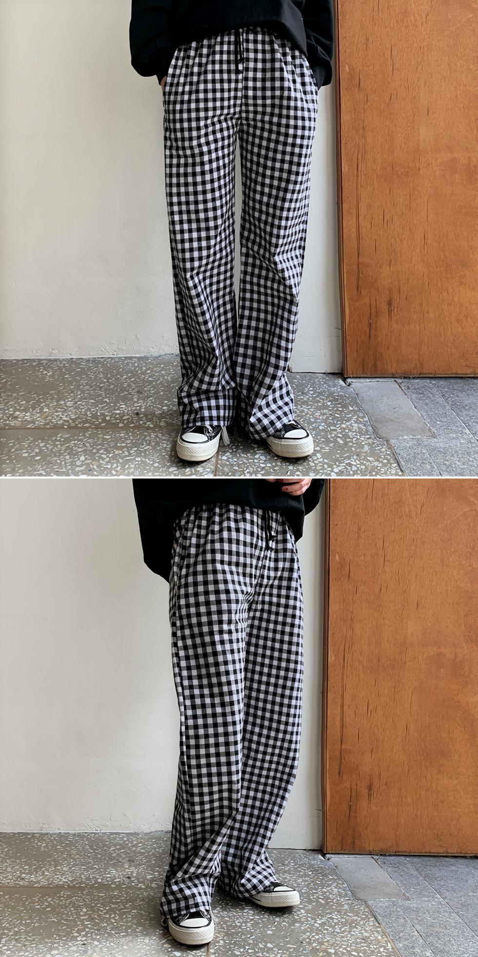 Gobang check pants
