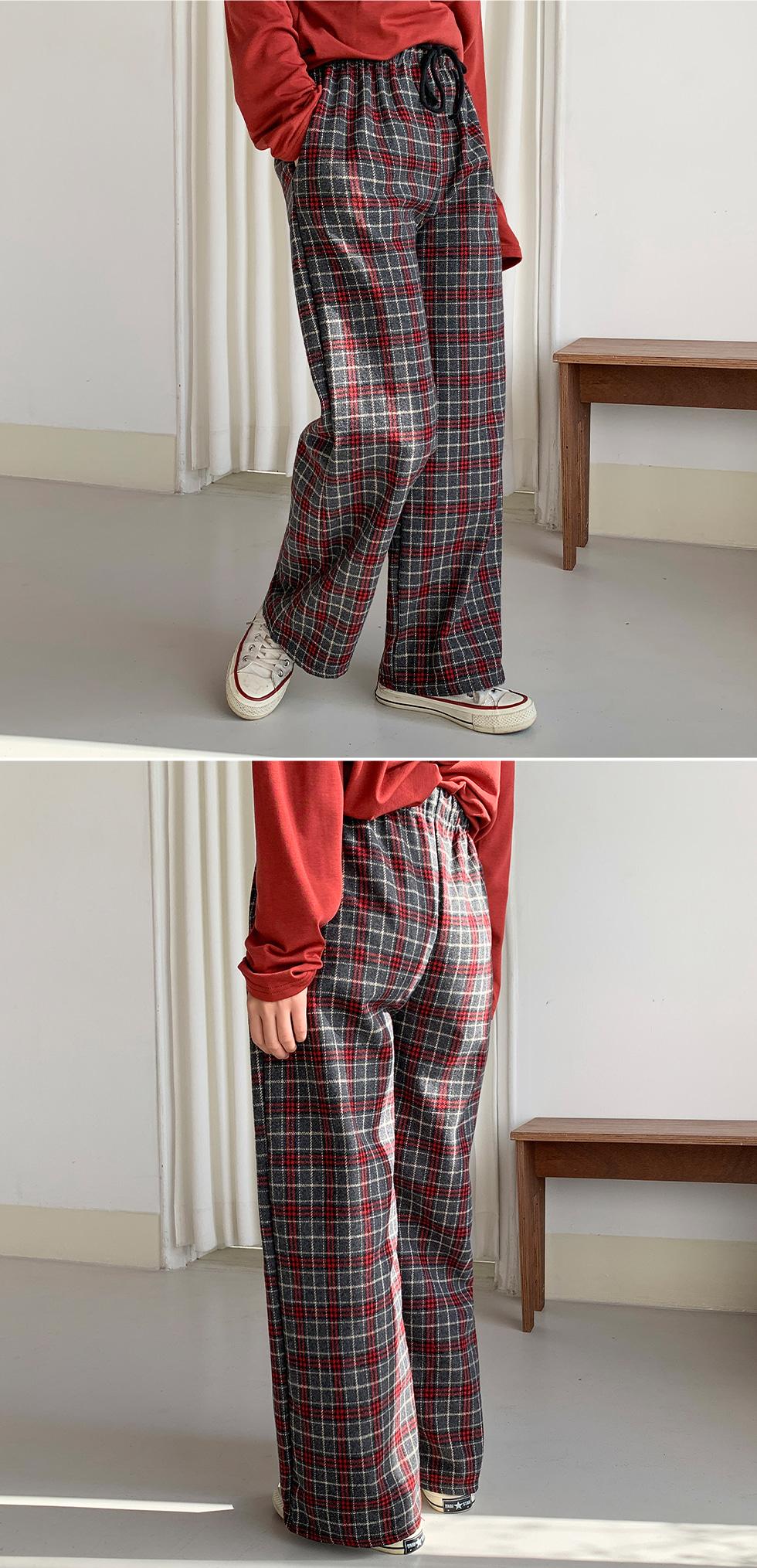 Boundary Check Banding Pants