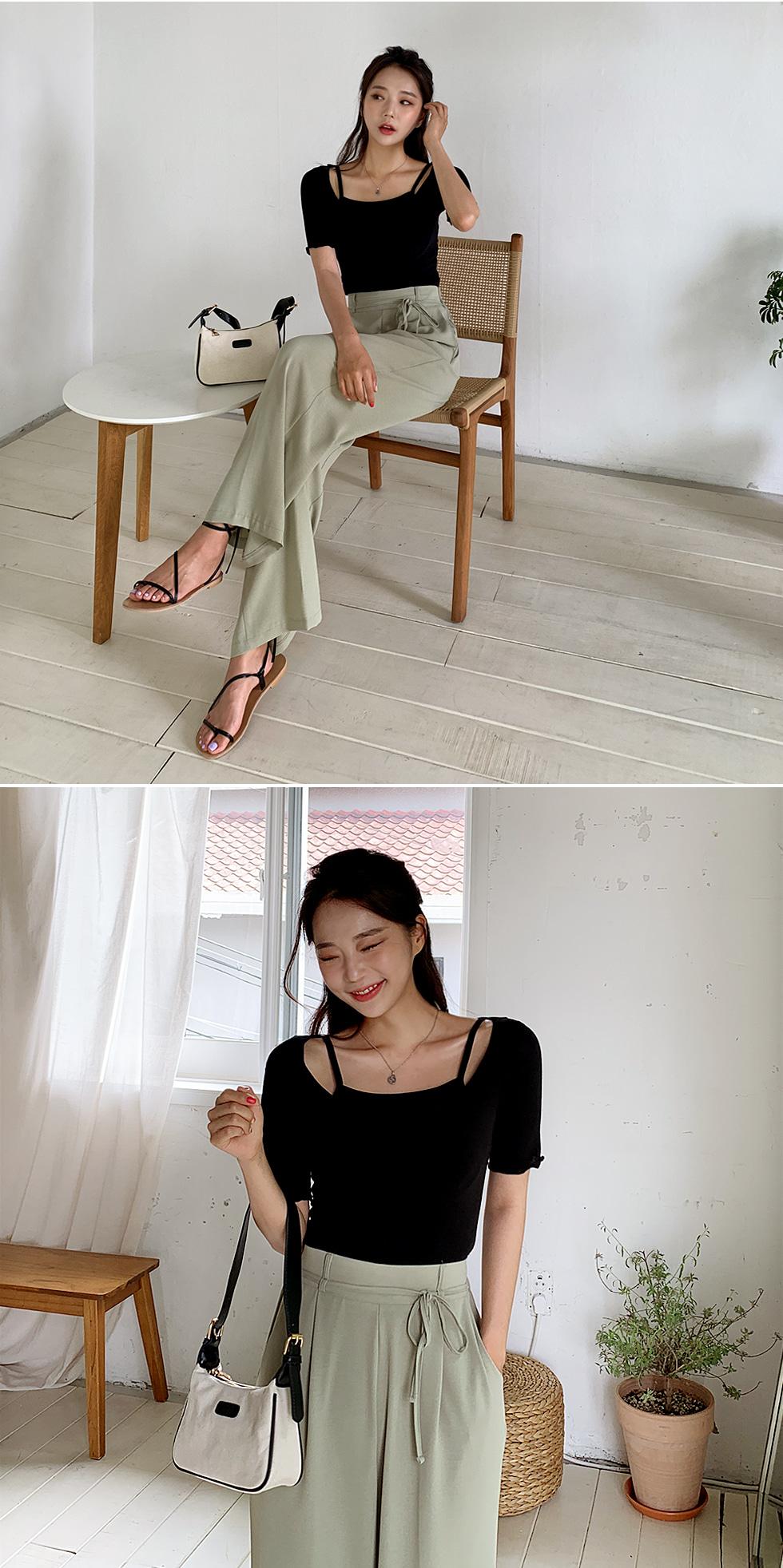 Jade String Slacks