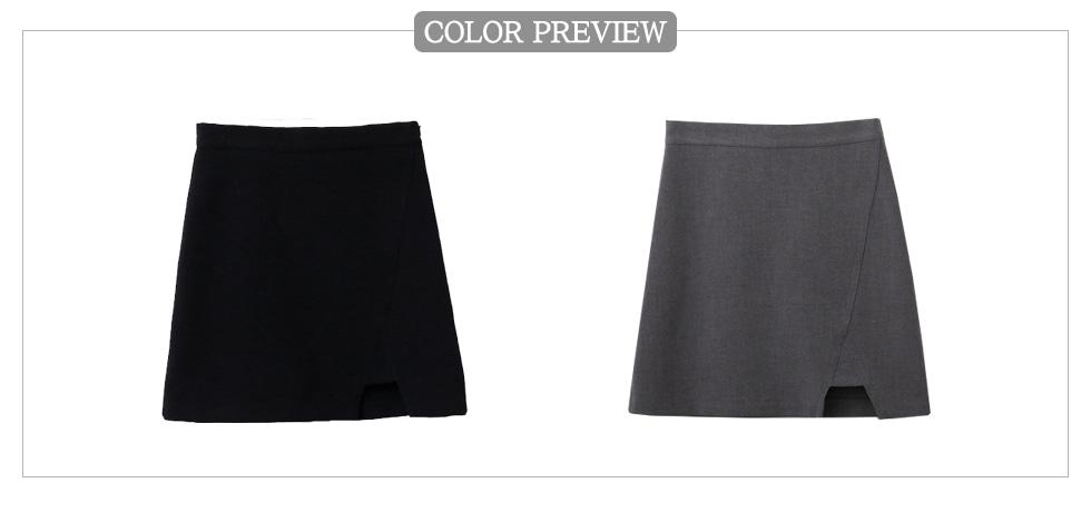 Tri-slit skirt