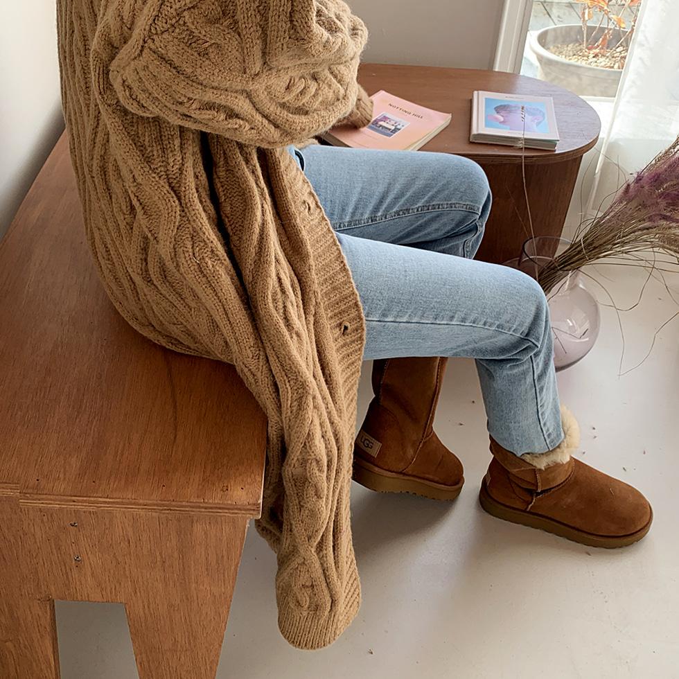 Bold Twisted Long Cardigan