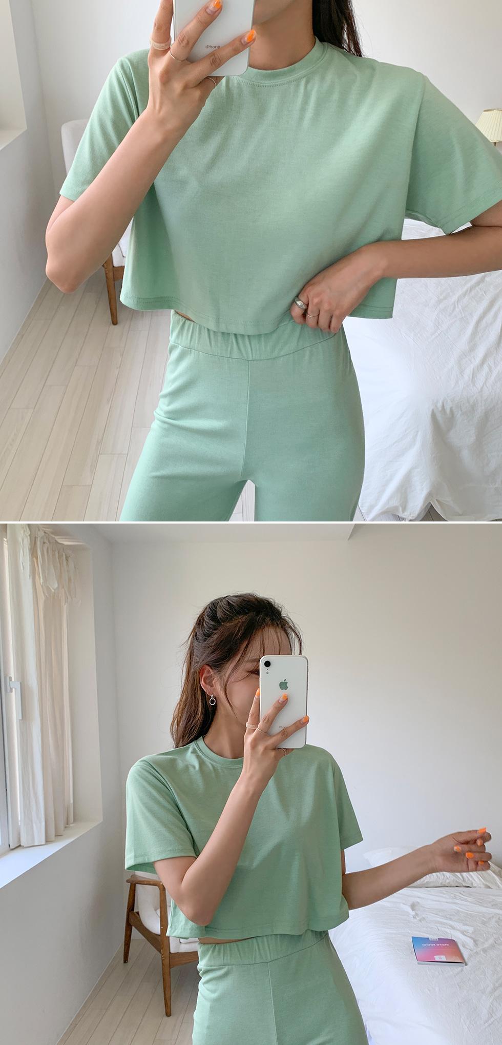 Onion cropped pants set