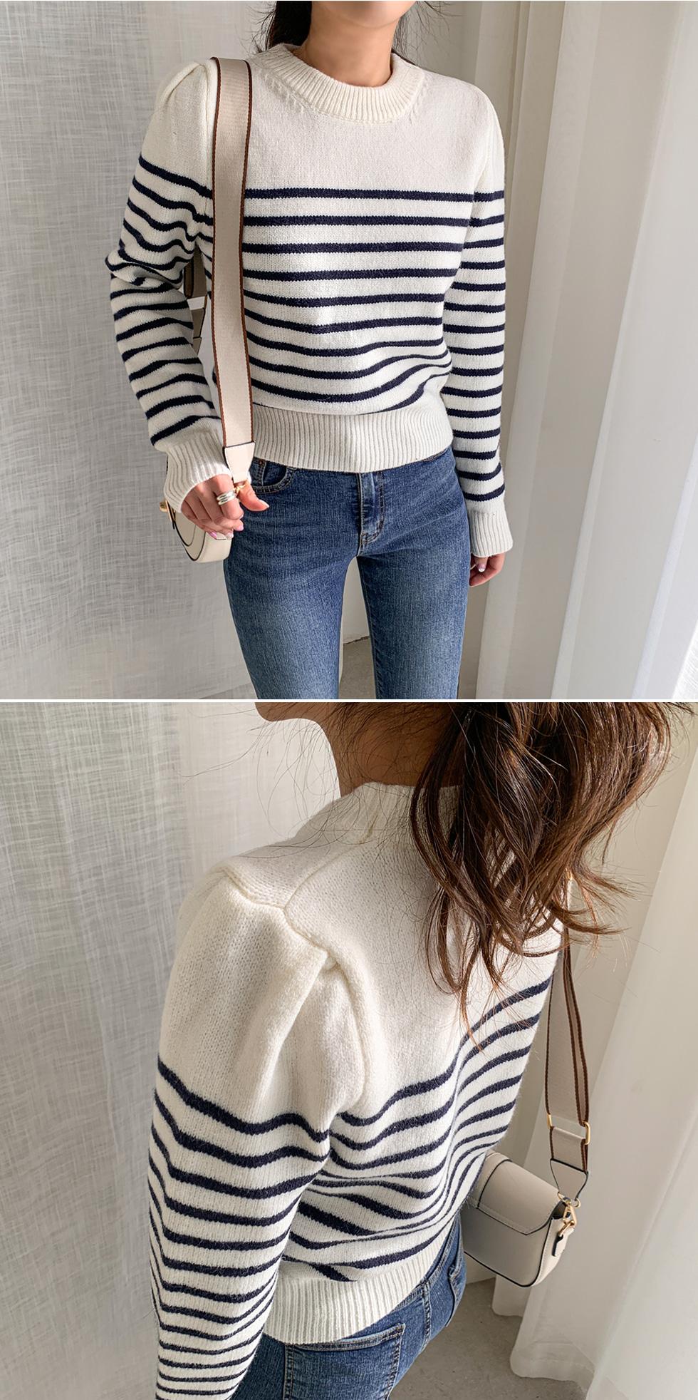 Puff Striped Knitwear
