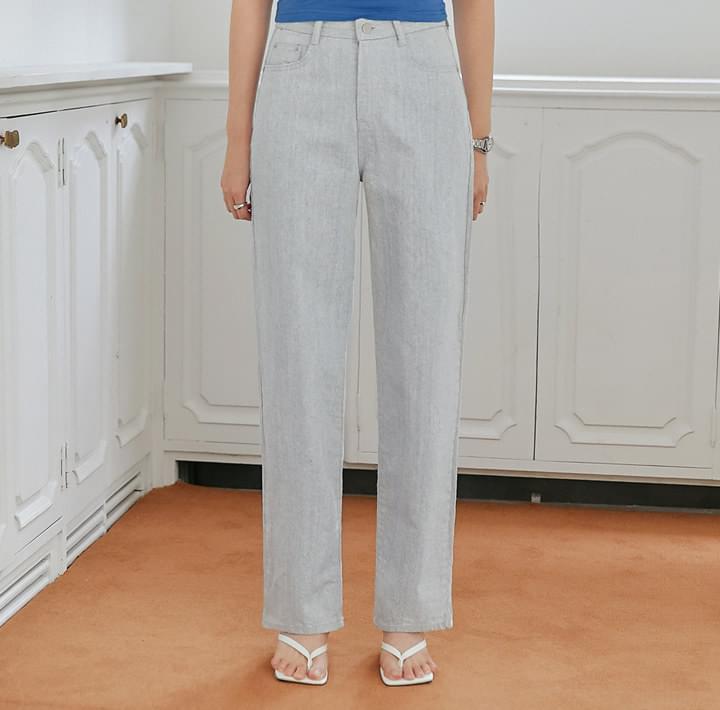 Contrast Cuff Loose Jeans