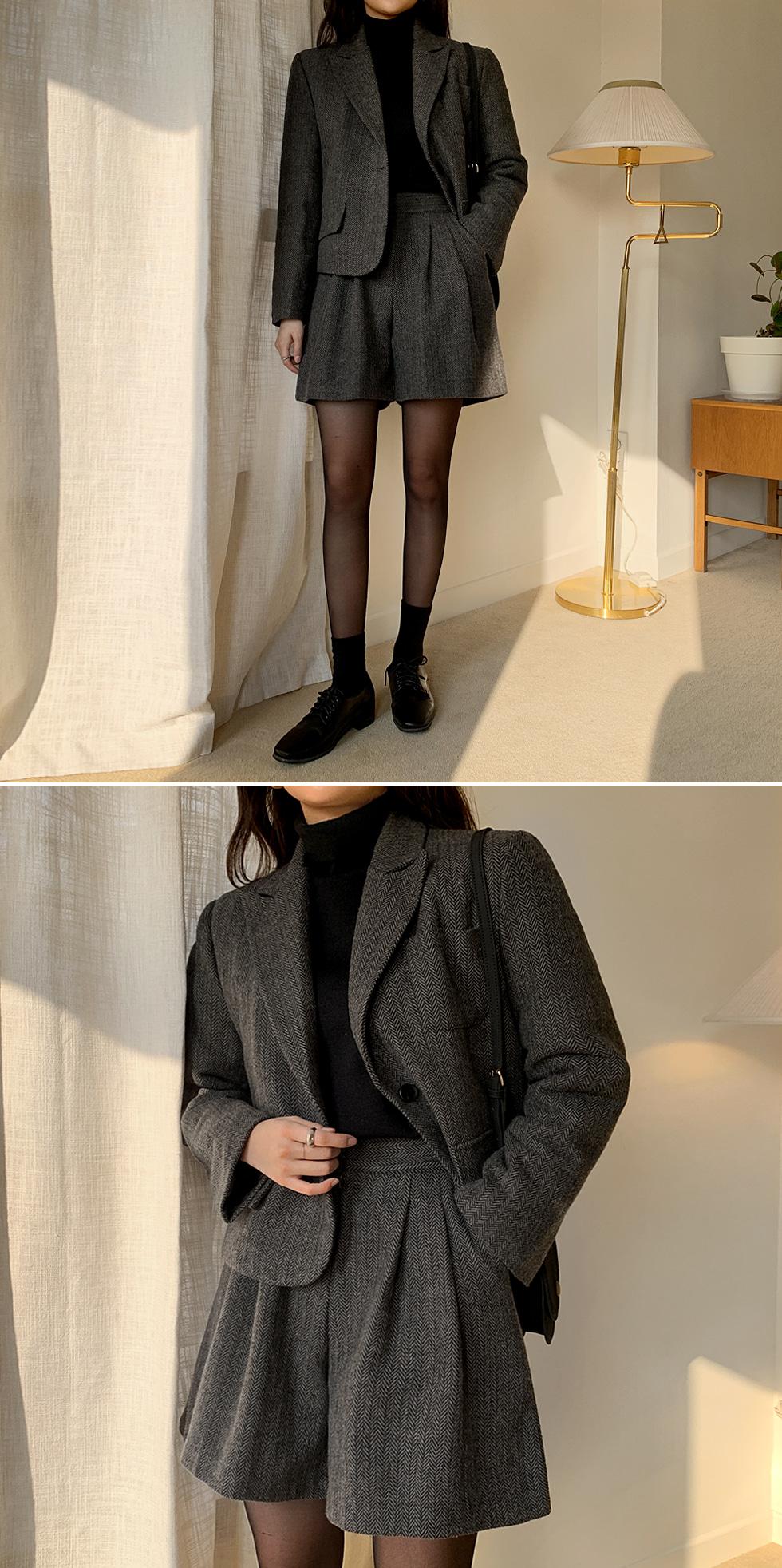 Betty Herringbone Quilted Jacket