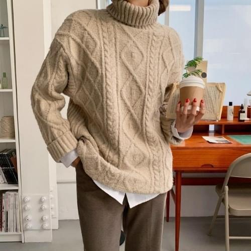 Roji Loose-fit Twisted Turtleneck Knitwear 針織衫
