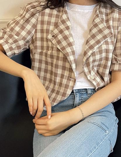 magenta unbald blouse jacket