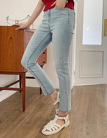 Dive straight denim trousers