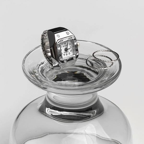 unique watch ring finger watch silver ring