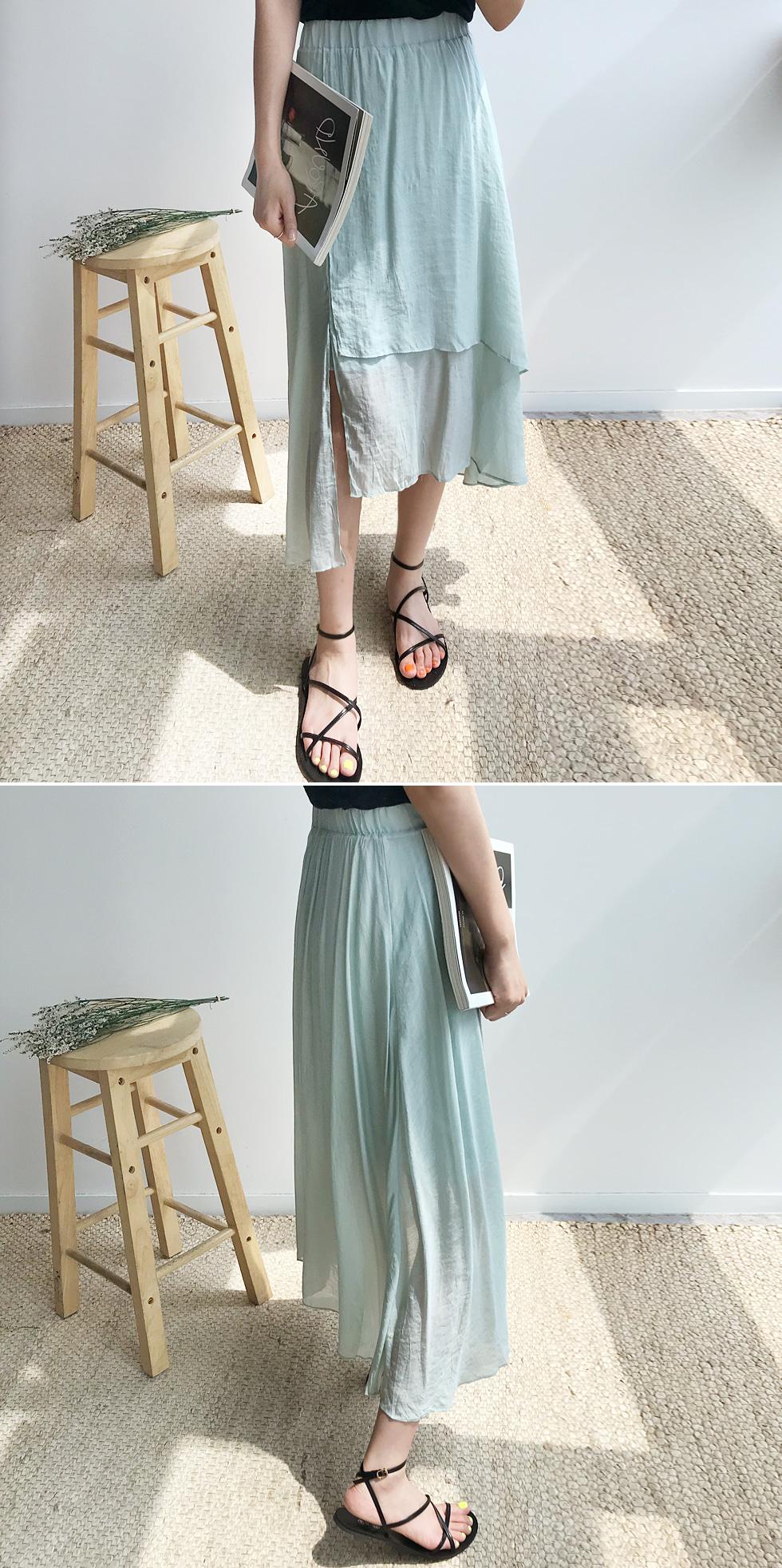 Plain Chiffon Skirt
