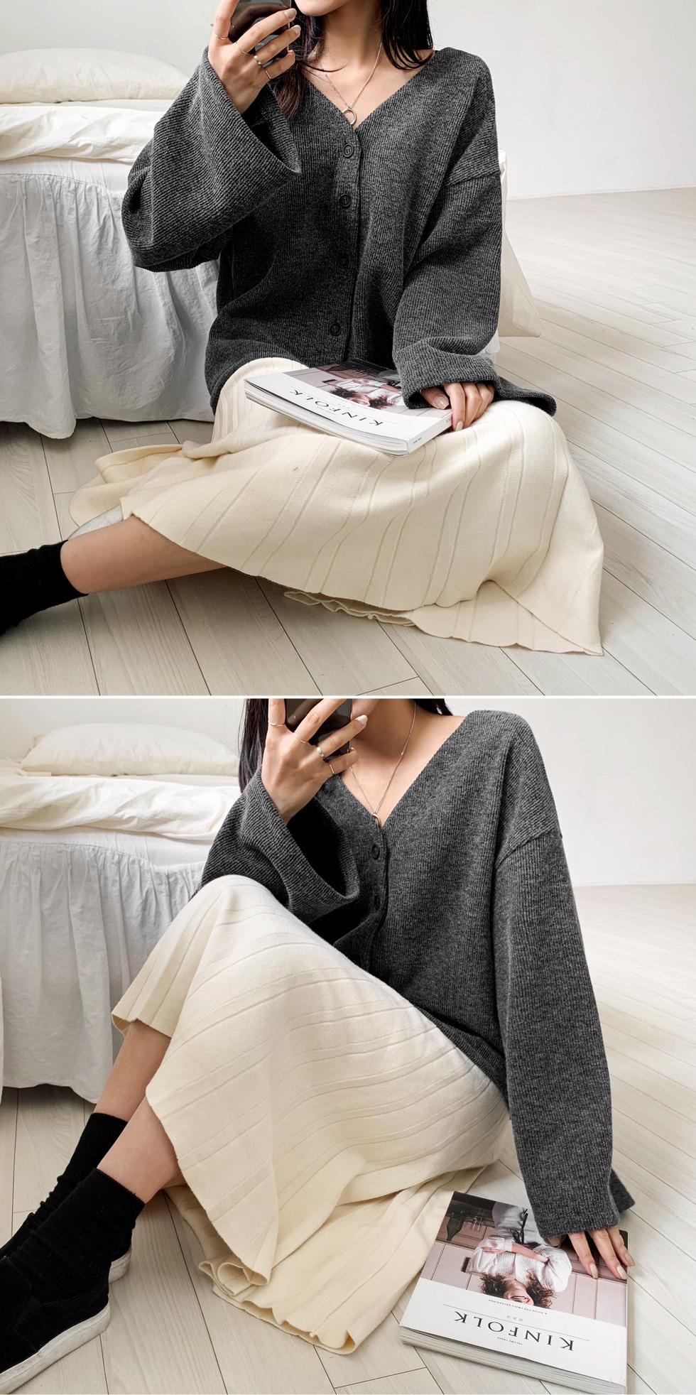 Flared Knitwear Skirt