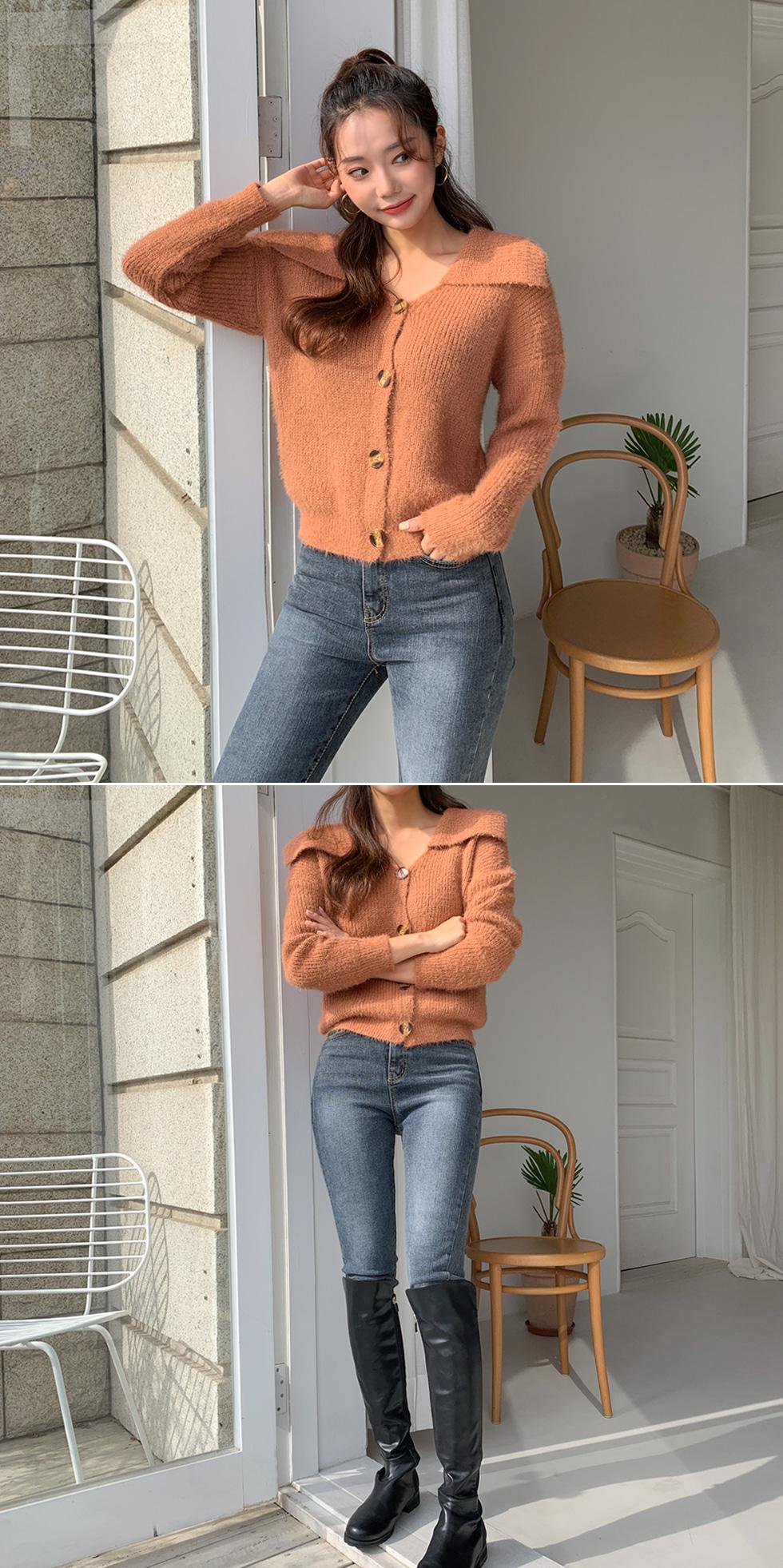 Romantic collar cardigan