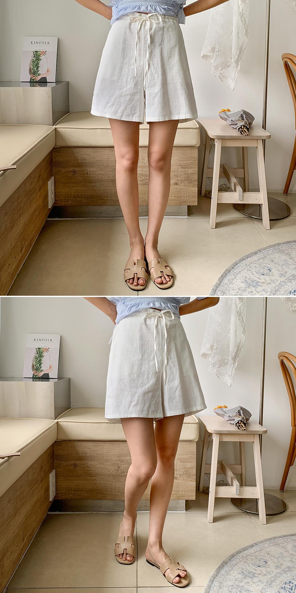 Soi linen half pants