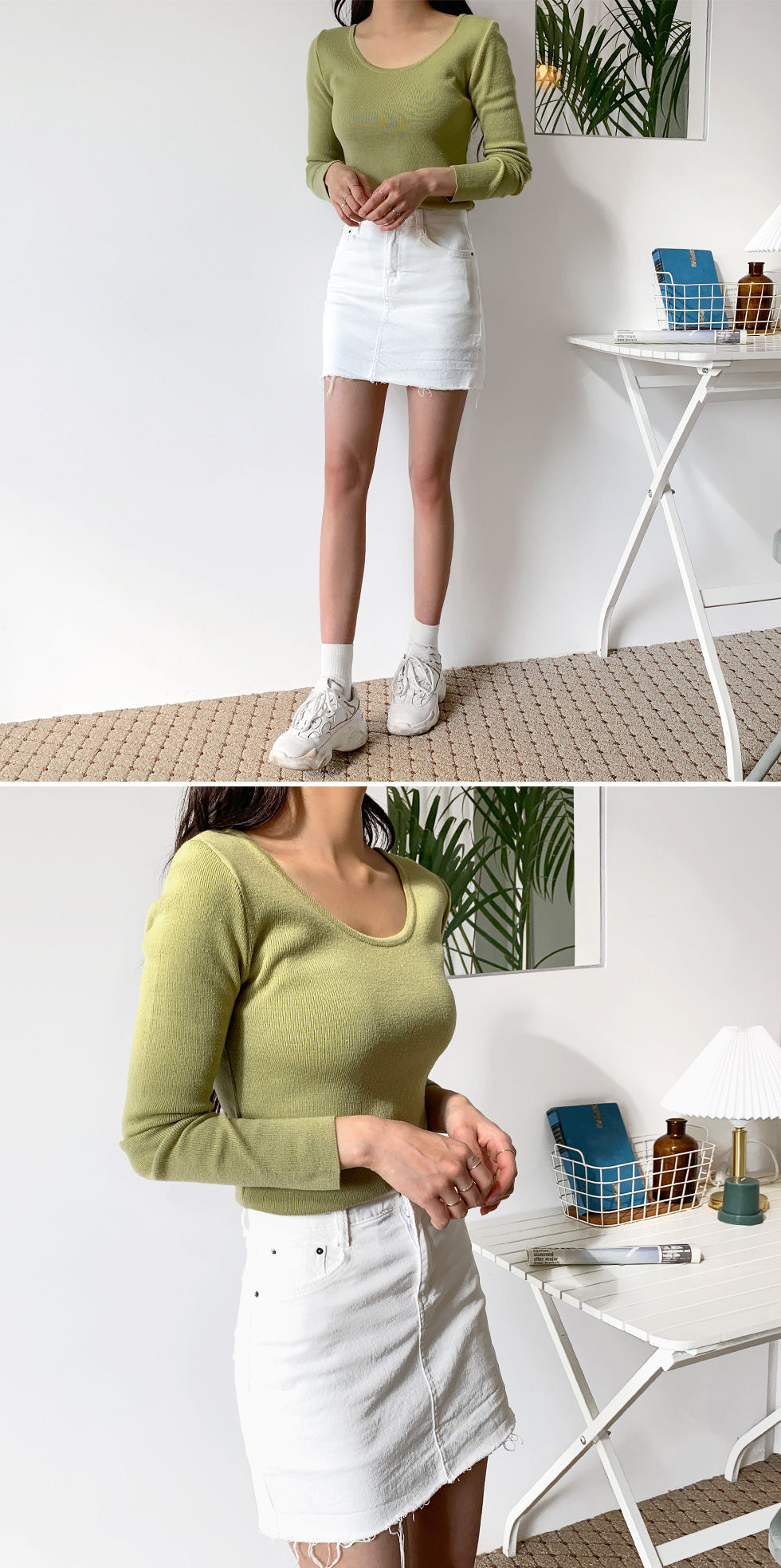 Cotton skirt pants