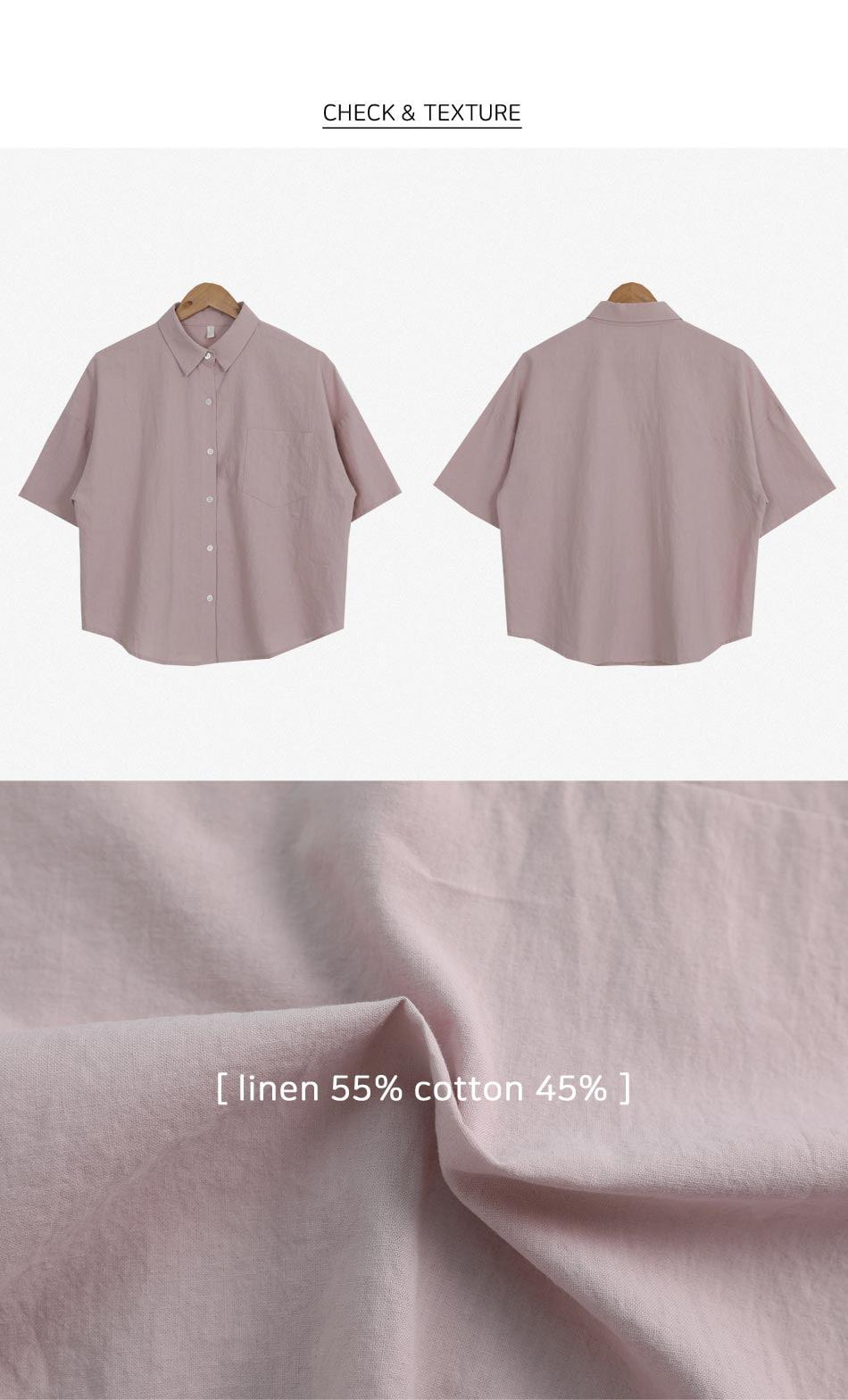 Panet Linen Box Short Sleeve Shirt