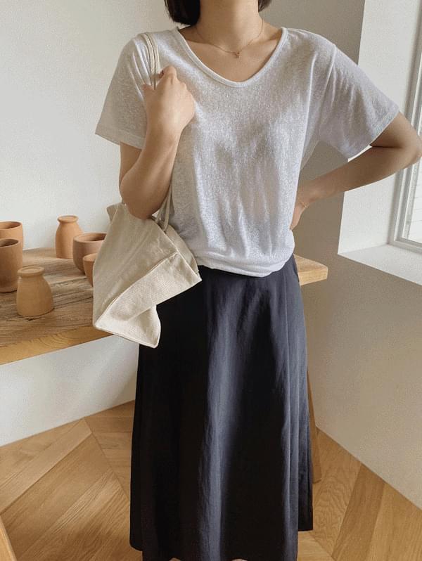 summer v linen t-shirt
