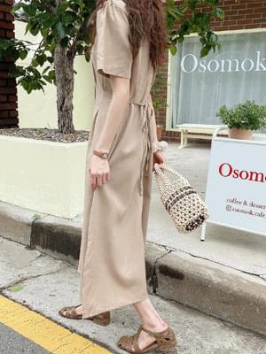 Latte Pintuck Dress