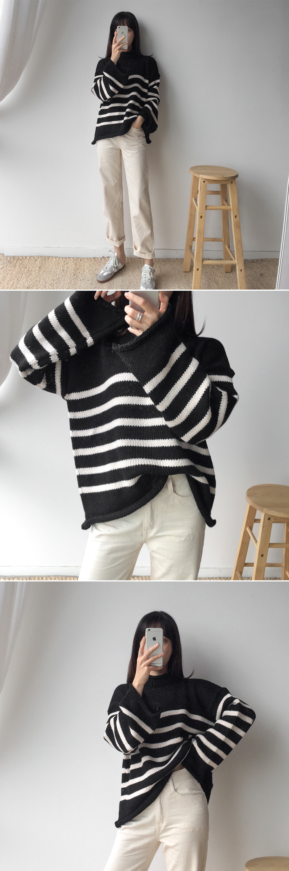 Half Striped Knitwear