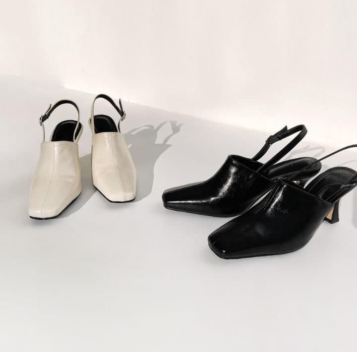 Slingback Square Toe Heels