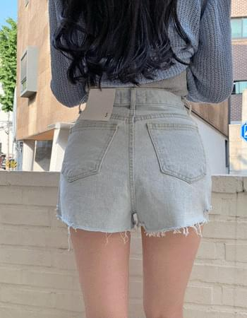Deoswi Light Blue cutting point short denim pants