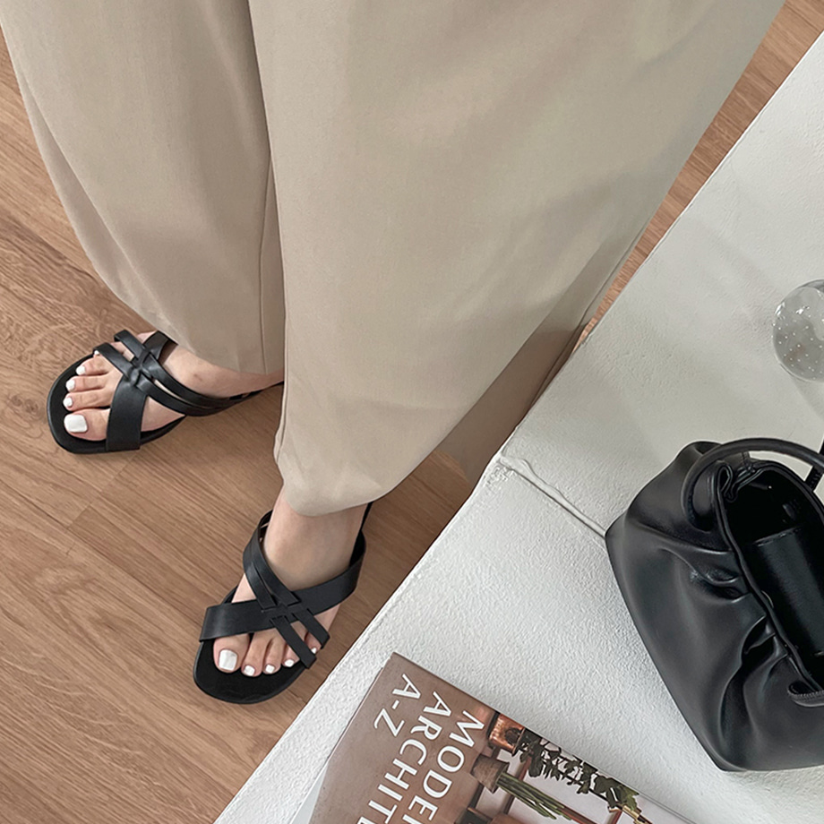 Antin Cross Strap Slippers