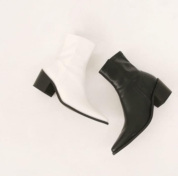 Low Block Heel Ankle Boots