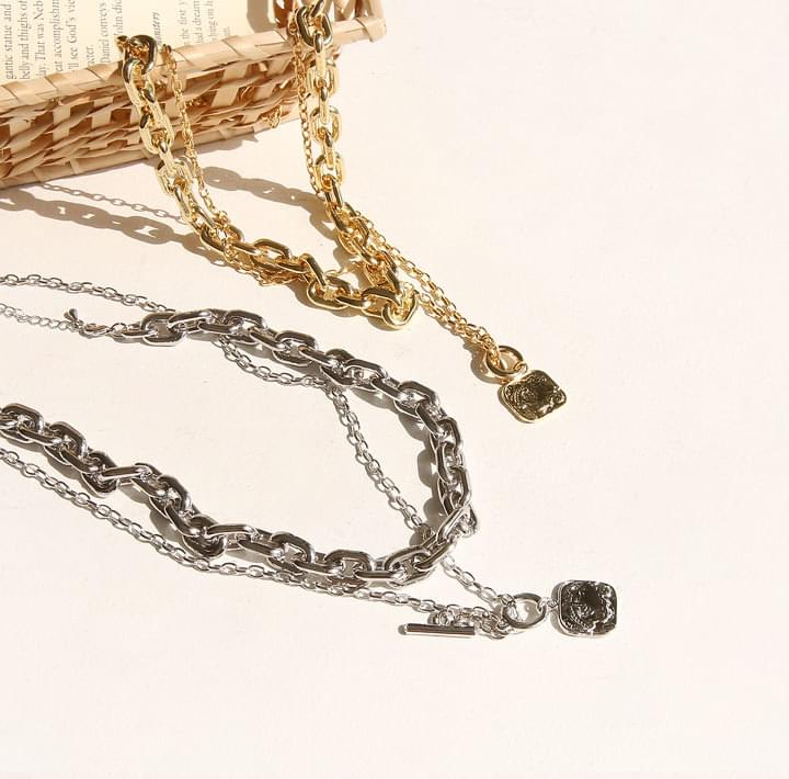 DERICK CHAIN LAYERED NECKLACE