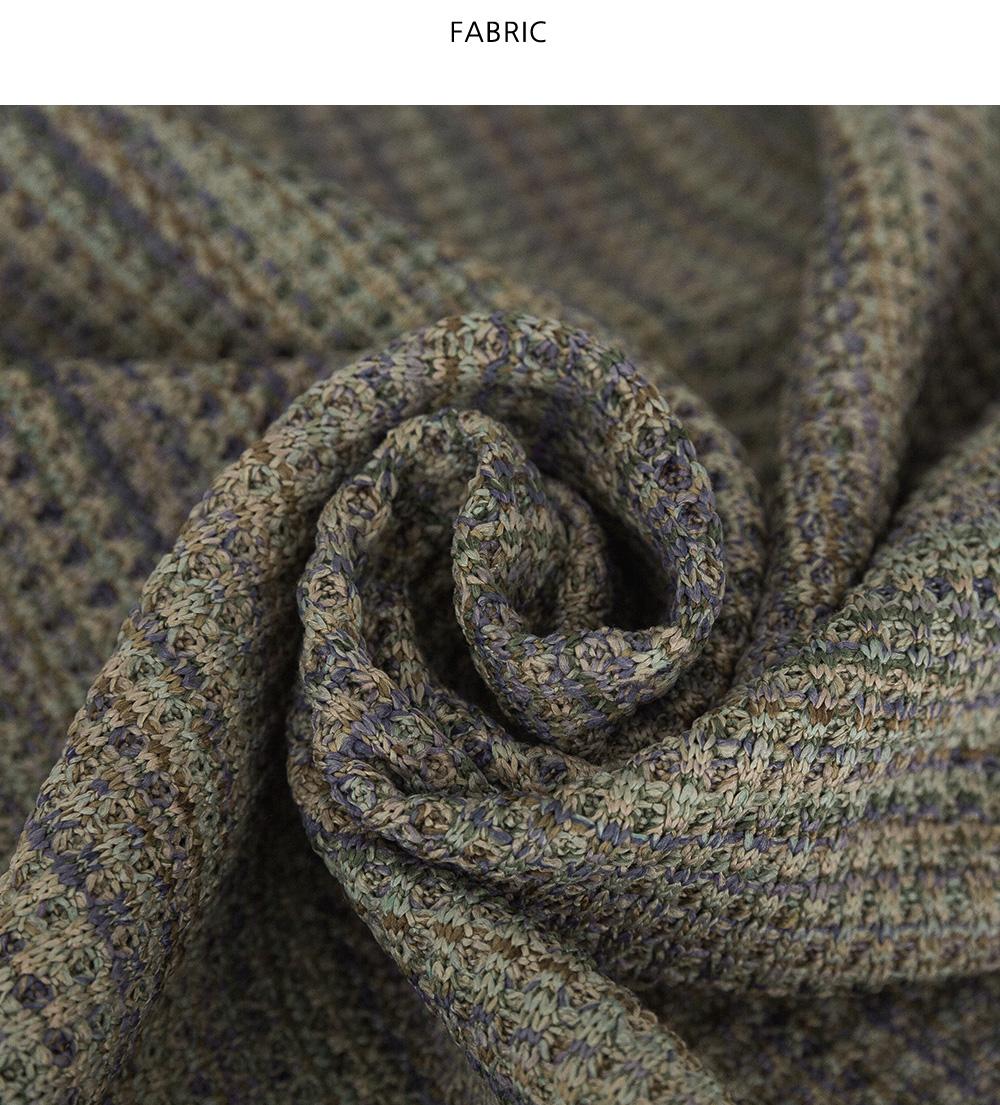 混色花花邊針織外套